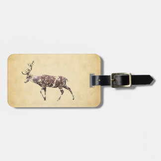 Deer with a Grungy Look Luggage Tag