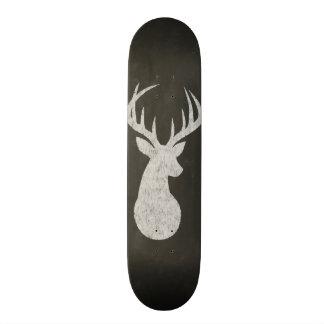 Deer With Antlers Chalk Drawing 18.4 Cm Mini Skateboard Deck