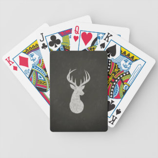 Deer With Antlers Chalk Drawing Bicycle Poker Deck
