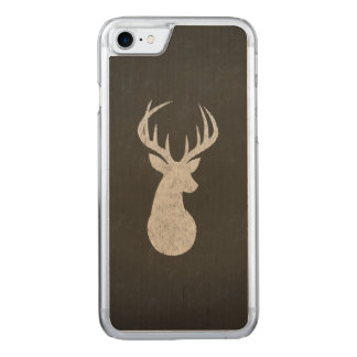 Deer With Antlers Chalk Drawing Carved iPhone 7 Case
