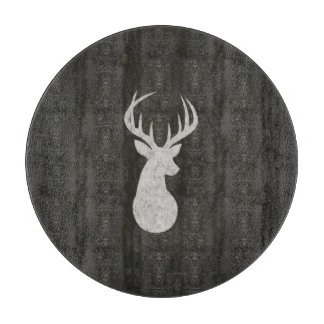 Deer With Antlers Chalk Drawing Cutting Board