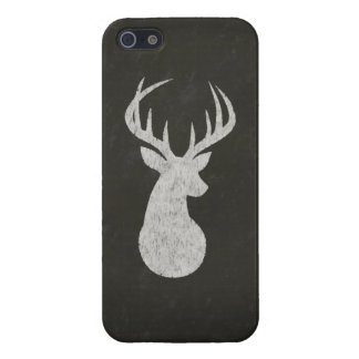 Deer With Antlers Chalk Drawing iPhone 5/5S Case