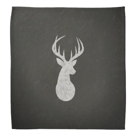 Deer With Antlers Chalk Drawing Kerchief