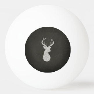 Deer With Antlers Chalk Drawing Ping Pong Ball