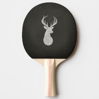 Deer With Antlers Chalk Drawing Ping Pong Paddle