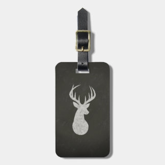 Deer With Antlers Chalk Drawing Travel Bag Tags