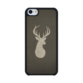 Deer With Antlers Chalk Drawing Maple iPhone 5C Slim Case