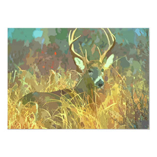 Deer with big Antlers Art Retirement invitation
