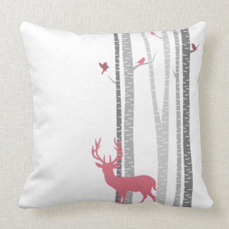 Deer with Birds Cushion