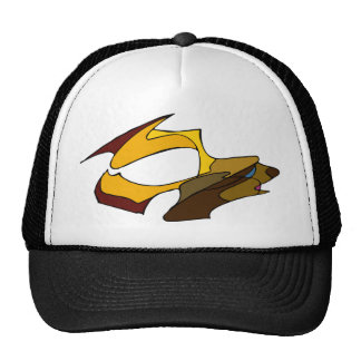 Deer with golden antlers trucker hat