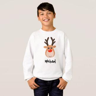 Deer with name Boy's Sweatshirt
