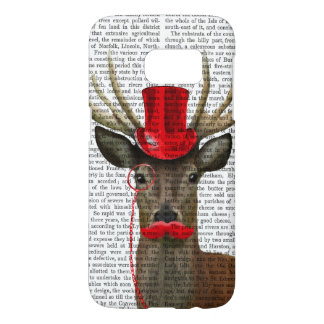 Deer with Red Top Hat and Moustache