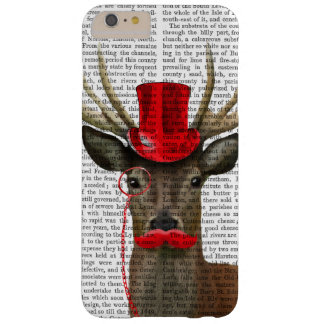 Deer with Red Top Hat and Moustache Barely There iPhone 6 Plus Case