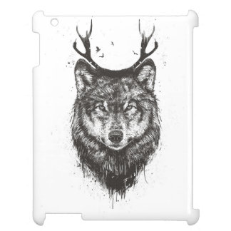 Deer wolf (black and white) case for the iPad