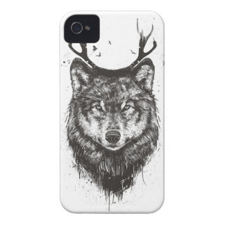 Deer wolf (black and white) Case-Mate iPhone 4 cases