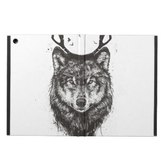 Deer wolf (black and white) iPad air covers
