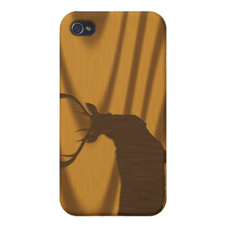 deer & wood-grain case for the iPhone 4