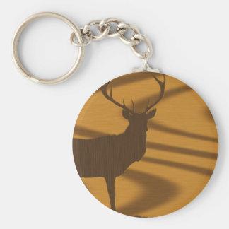 deer & woodgrain key ring