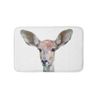 Deer woodland animal forest photo bath mat