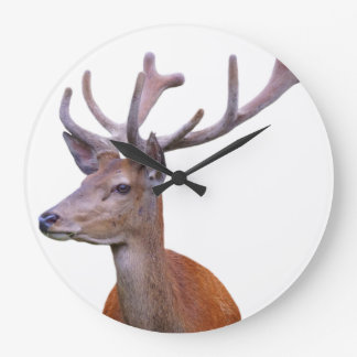 Deer woodland forest animal photo large clock