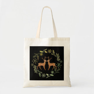 Deer Wreath Tote Bag