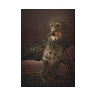 Deerhound one has sofa canvas print