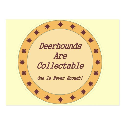 Deerhounds Are Collectable Post Cards