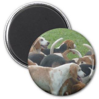 Deerhounds/Jagdhunde 6 Cm Round Magnet