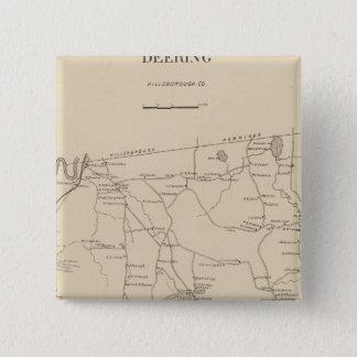 Deering, Hillsborough Co 15 Cm Square Badge