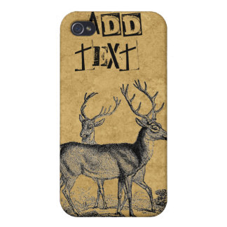 Deers Add Text Hunters iPhone Case 4/4S iPhone 4 Covers