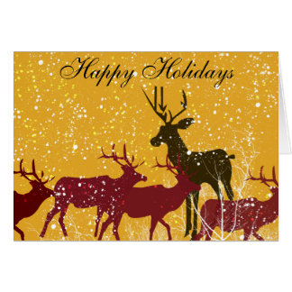 Deers First Snow Greeting Cards