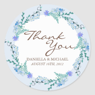 Deers in Love Woodland Winter Wedding Custom Favor Classic Round Sticker