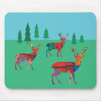 Deers in the Forest Mouse Mat