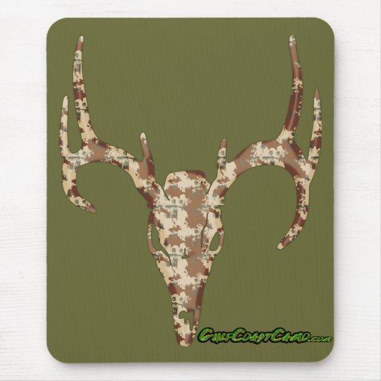 DeerSkull in Digital Brown for Hunters Mouse Mat