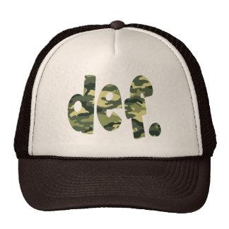 def. Camo Mesh Hats