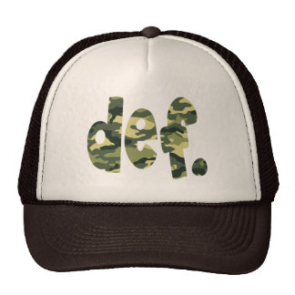 def Camo Mesh Hats