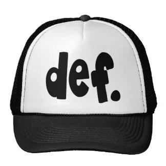 def. mesh hats