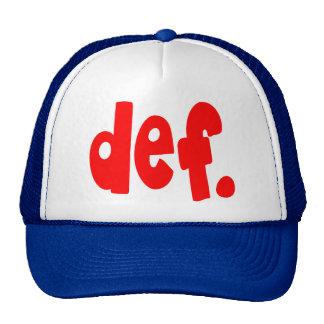 def. hats