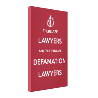 Defamation Lawyers Canvas Print