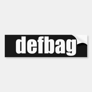 defbag - standard bumper sticker car bumper sticker