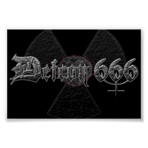 Defcon 666 Satanic metal band poster