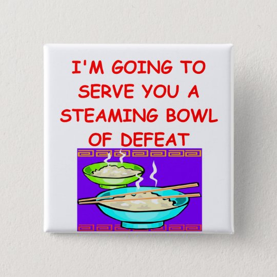 DEFEAT 15 CM SQUARE BADGE