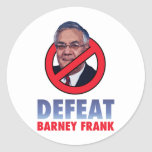 Defeat Barney Frank Classic Round Sticker