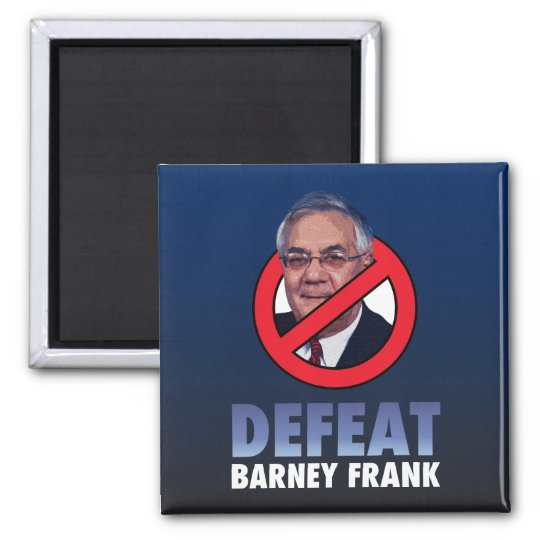 Defeat Barney Frank Square Magnet
