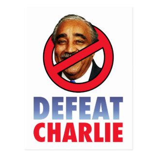 Defeat Charlie Rangel Postcard