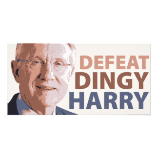 Defeat Dingy Harry Reid Photo Cards