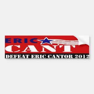 Defeat Eric Cantor 2012 Bumper Sticker