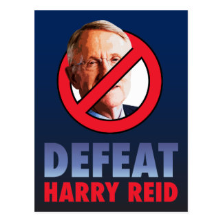Defeat Harry Reid Postcard