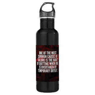 Defeat Is Temporary - Workout Motivational 710 Ml Water Bottle