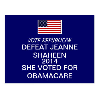 DEFEAT JEANNE SHAHEEN 2014 POST CARDS